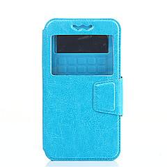 For HTC etui Med stativ Med vindue Flip Etui Heldækkende Etui Helfarve Hårdt Kunstlæder for HTCHTC Desire 826 HTC Desire 820 HTC Desire