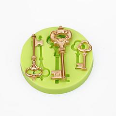 Kage dekorationer mug barok vintage stil nøgler silikone skimmelsvamp chokolade polymer ler sukkercraft værktøjer farve tilfældigt
