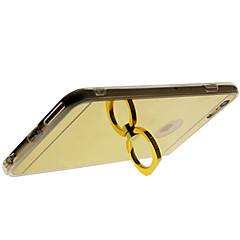 Pour Coque iPhone 6 Coques iPhone 6 Plus Anneau de Maintien Miroir Coque Coque Arrière Coque Couleur Pleine Dur Acrylique pour Apple