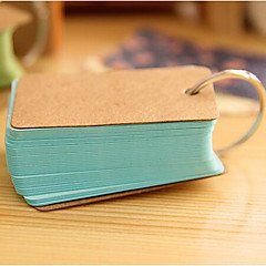 Korea Cute Buckle Loose-Leaf Notebook Portable Small Tear Of The Card Notes This Word