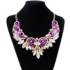 Damskie Naszyjniki choker Kropla sztuczna Diament Stop Modny White Purple Czerwony Biżuteria Na Ślub Impreza 1szt