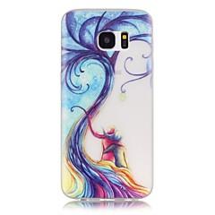 Varten Samsung Galaxy S7 Edge Hehkuu pimeässä / Kuvio Etui Takakuori Etui Puu Pehmeä TPU SamsungS7 edge / S7 / S6 edge plus / S6 edge /