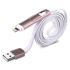 Micro USB 3.0 Tasapohja Kaikki yhdessä Normaali Kaapeli Käyttötarkoitus Apple Huawei Sony Nokia HTC Motorola LG Xiaomi 100 cm Nylon