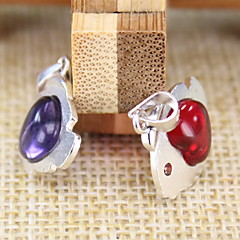 Women's Red/Purple Sterling Silver Pendant 1PC