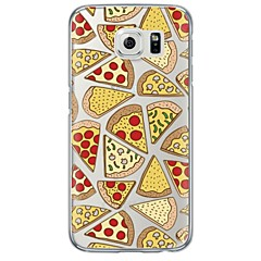 Pizza Pattern Soft Ultra-thin TPU Back Cover For Samsung GalaxyS7 edge/S7/S6 edge/S6 edge plus/S6/S5/S4