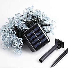 قاد 1PC الطاقة الشمسية المنزلية في الهواء الطلق عيد الميلاد تزيين أضواء سلسلة 50dip 7M