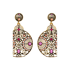 The Diamond Circular Hollow Beads Retro Wind Zinc Alloy Earrings Cremation Jewelry