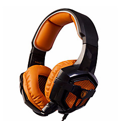SADES SA-806 LED Light Surround Sound Stereo PC Gaming Headset with Mic Noise-cancelling Wired Headphone for PC/Laptop