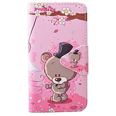 Bear Pattern PU Material Card Phone Case For IPhone 7 5 5s se 6 6s 6 Plus  6s Plus