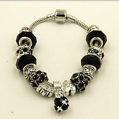 Dames Strand Armbanden Kristal Liefde Modieus Klassiek Sierstenen Luxe Sieraden Strass imitatie Diamond LegeringRonde vorm Hartvorm