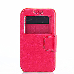 Voor Motorola hoesje met venster / Flip hoesje Volledige behuizing hoesje Effen kleur Hard PU-leer MotorolaMoto X / Moto X Play / Moto G