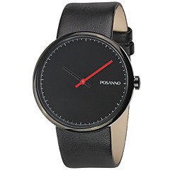 Luxury Brand Men Simple Ultra-Thin Style Fashion Black Leather Quartz Casual Watches For Unisex Christmas Gift