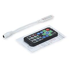 19 nøgler mini LED RGB controller med fr trådløs fjernbetjening til SMD 3528 5050 RGB LED strimmel lys (dc 12-24V)
