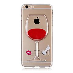 karzea ™ ρέει υγρό κρασί νερού TPU μοτίβο γυαλί πίσω κάλυψη περίπτωσης για το iphone 6s 6 συν