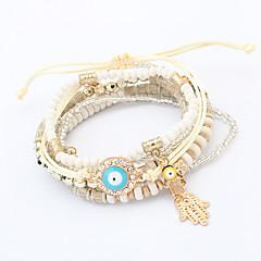 Strand Bracelets 1pc,Black / White / Red Bracelet Fashionable Circle 514 Resin Jewellery Christmas Gifts
