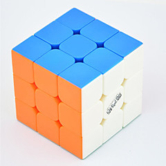 Qiyi® Smooth Speed Cube 3*3*3 Speed / Professional Level Magic Cube Rainbow Warrior Anti-pop / Adjustable spring ABS
