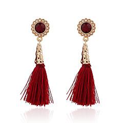 Frędzle Postarzane Modny Europejski Perłowy Pozłacane Stop Round Shape Flower Shape Czerwony Biżuteria Na Impreza Codzienny Casual 1 para