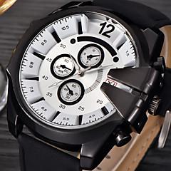 Big Mens Brand Leather Hours Male Military Army Reloj Hombre Relogio Masculino montres de marque de Luxe Watch gift