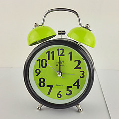 (Random Color)3 Inch Exquisite Fashion Gift Alarm Clock Bell Mute Movement With Night-Light