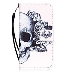 Kompatibilitás iPhone X iPhone 8 iPhone 7 iPhone 7 Plus iPhone 6 tokok Kártyatartó Minta Teljes védelem Case Koponya Kemény Műbőr Bőr mert