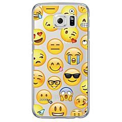 Para Samsung Galaxy S7 Edge Ultra-Fina / Translúcido Capinha Capa Traseira Capinha Azulejos Macia TPU SamsungS7 edge / S7 / S6 edge plus