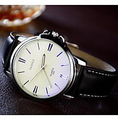 YAZOLE Men's Dress Watch Wrist watch / Quartz Leather Band Casual Black Brown