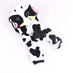 Koty Psy Kostiumy Kombinezon Ubrania dla psów Zima Wiosna/jesień Wzór zwierzęcy Urocze Cosplay White-Black
