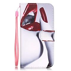Varten iPhone 7 kotelo / iPhone 7 Plus kotelo / iPhone 6 kotelo Korttikotelo / Kuvio Etui Kokonaan peittävä Etui Seksikäs nainen Kova