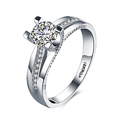lureme18kRPG Cubic Zirconia Wedding Engagement Band Ring