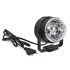 3W Festoon LED Φώτα Σκηνής Περιστρεφόμενη 1 LED Υψηλης Ισχύος 360 lm RGB Ενεργοποίηση Ήχου / Διακοσμητικό AC 85-265 V 1 τμχ