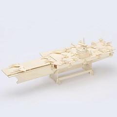 puslespil 3D-puslespil / Træpuslespil Byggesten DIY legetøj Aircraft Carrier Træ Guld Model- og byggelegetøj