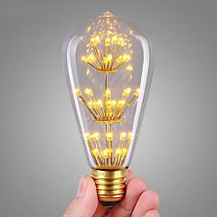 3W Żarówka dekoracyjna LED ST64 47 COB 360 lm Ciepła biel Dekoracyjna AC 220-240 V 1 sztuka E27