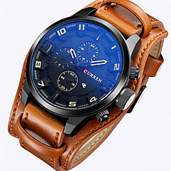 CURREN® watchbands relogio masculino Character design leather watch strap European style military waterproof watch