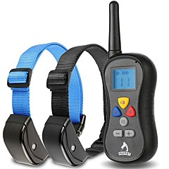 Dog Bark Collar / Dog Training Collars Anti Bark Waterproof 300M Remote Control Shock/Vibration for 2 Dogs