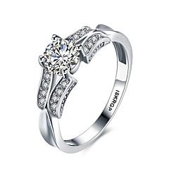 Pierścionki na palec środkowy Obrączki Duże pierścionki Kamień szlachetny Srebro standardowe Cyrkon Cyrkonia sztuczna DiamentHip-Hop