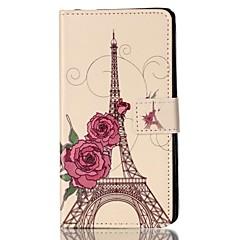 Varten Lomapkko Korttikotelo Tuella Flip Kuvio Magneetti Etui Kokonaan peittävä Etui Eiffelin torni Kova Tekonahka varten Sony Other