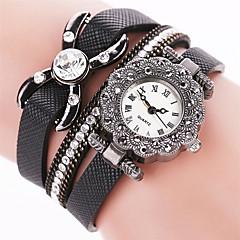 Women's Cool Quartz Fashion Casual Watch PU Belt Butterfly Beautiful Diamond Bracelet Round Dial Watch Unique Watch