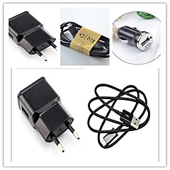 Charger Kit EU Plug Car Charger / Home Charger with Cable for Samsung S3/4/5/6/7 and Others(5V  1A)
