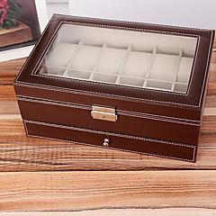Fabric Black European Twelve Watch Case Multi-Function Drawer Jewelry Boxes