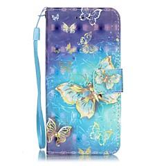 Για Θήκη iPhone 7 / Θήκη iPhone 7 Plus / Θήκη iPhone 6 Θήκη καρτών / Με σχέδια tok Πλήρης κάλυψη tok Πεταλούδα Σκληρή Συνθετικό δέρμα
