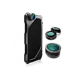Varten iPhone 6 kotelo / iPhone 6 Plus kotelo Iskunkestävä Etui Kokonaan peittävä Etui Yksivärinen Kova Alumiini AppleiPhone 6s Plus/6