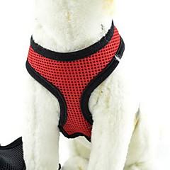 Hunde Seler Justérbar/Udtrækkelig / Åndbart Solid Rød / Grøn / Blå Nylon / Net