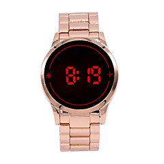 Herren Armbanduhr Digitaluhr digital LED Touchscreen Legierung Band Bettelarmband Rose Rose