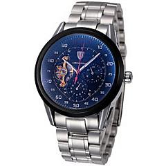Bărbați Ceas de Mână / ceas mecanic Mecanism automat Cronograf / Rezistent la Apă Oțel inoxidabil Bandă Cool Argint Marca