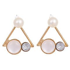 Γυναικεία Μοντέρνα Πεπαλαιωμένο Κρύσταλλο Επιχρυσωμένο Οπάλιο Κράμα Triangle Shape Κοσμήματα Για Γάμου Πάρτι