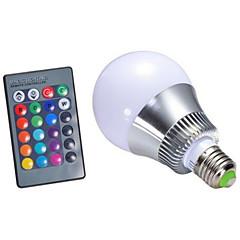 5 E26/E27 Ampoules LED Intelligentes G95 1 LED Haute Puissance 450-500 lm lm RVB Gradable / Commandée à Distance AC 85-265 V 1 pièce