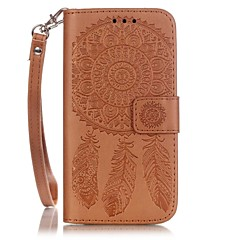 For iPhone 7 etui iPhone 7 Plus etui iPhone 6 etui Kortholder Præget Mønster Etui Heldækkende Etui Drømmefanger Hårdt Kunstlæder for Apple