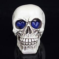 1pc halloween decoratie nieuw speelgoed hars schedels ogen gloeiende spook een nachtlampje