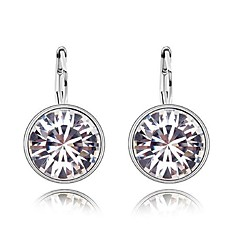 Thousands of colors Earring CircleJewelry 1 pair Fashionable Alloy Silver Daily