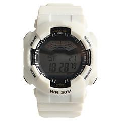 Men's Women's Sport Watch Digital Watch Water Resistant / Water Proof / Quartz Digital Plastic Band Casual White